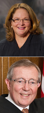 Chief Justice Mary E. Fairhurst and Judge Richard F. McDermott